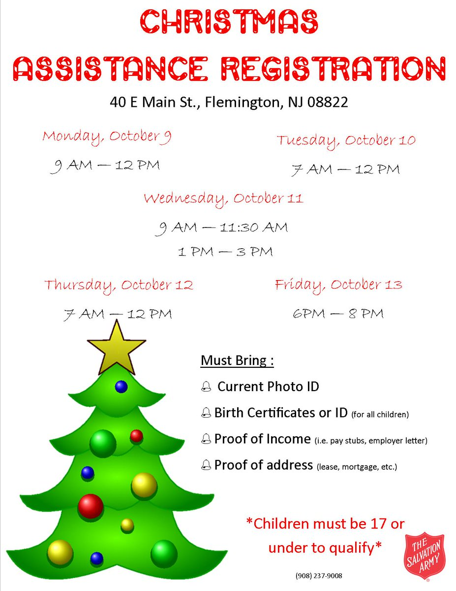 Salvation army wcr on twitter christmasassistance registration salvation army wcr on twitter christmasassistance registration dates have been released for our trenton boundbrook and flemington corps xflitez Images