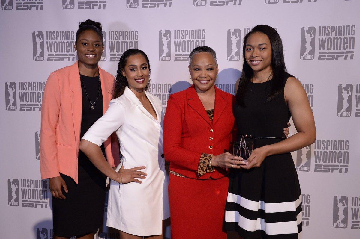Congrats to the #WNBA Rookie of the Year, @Graytness_15! #WatchMeWork #InspiringWomen