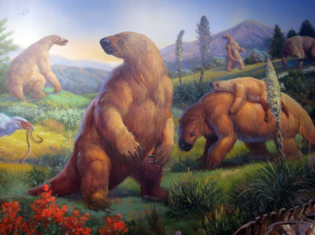 Megalonyx Family Painting