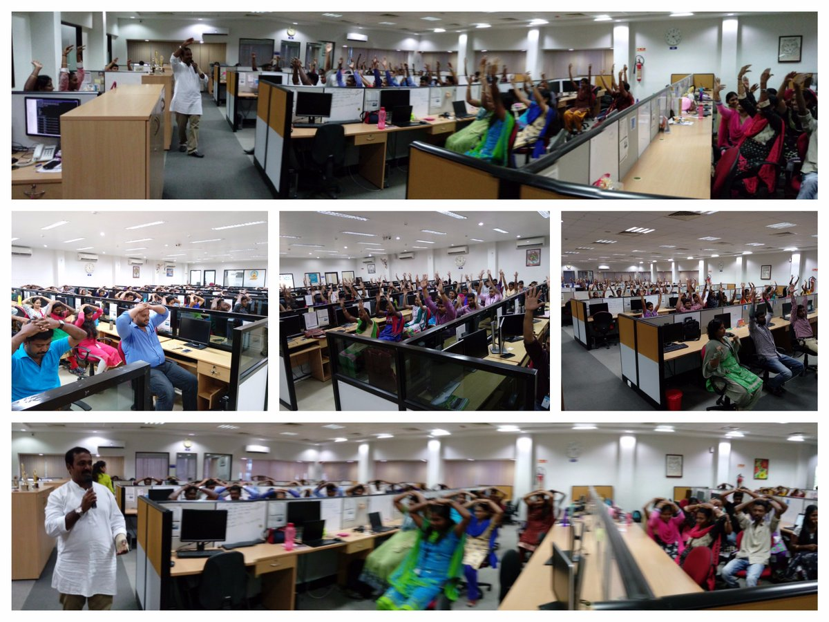 Successfully completed @ArtofLiving #Desktop #Yoga 4 @Nasdaq Employees of #Nagercoil 200 employees experienced essence of Yoga &amp; Meditation<br>http://pic.twitter.com/Te1HoSY1ZO