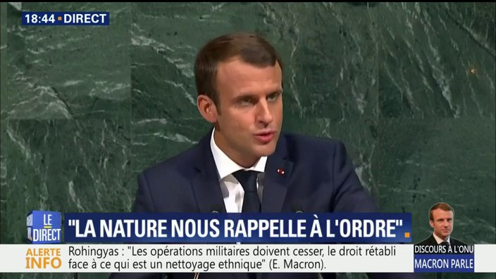 DIRECT. La France 'ne renégociera pas l'accord de Paris. Il nous lie'. 'La porte sera tjrs ouverte aux USA' dit @EmmanuelMacron