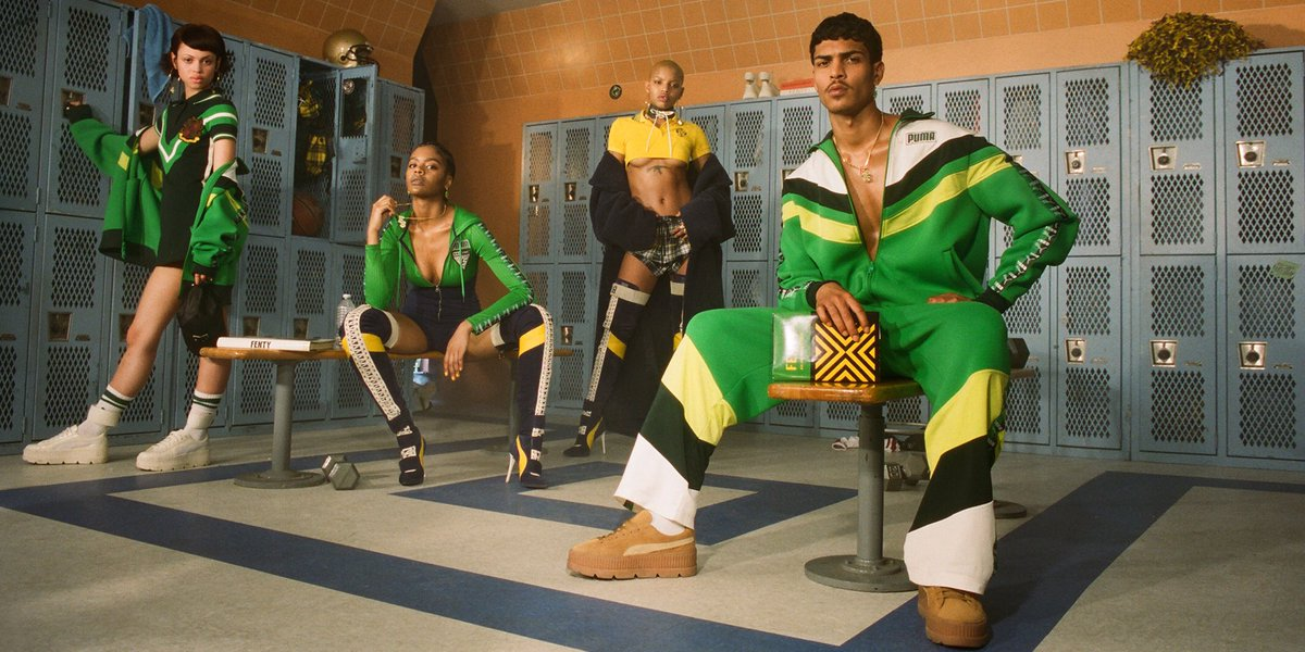 Get ready for class... The #FENTYXPUMA AW17 collection drops SEPT. 28 💚💛🖤