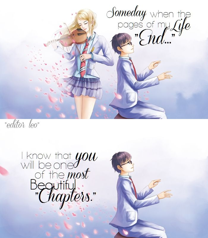 Anime Quotes On Twitter Your Lie In April Your Lie In April Quotes