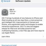 #iOS11 roll-out has started #2GB #UpdateNow