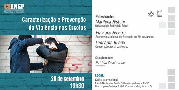 Centro de Estudos na @ensp @fiocruz discute formas de prevenção e identificação da violência nas escolas https://t.co/odfMvWWgO5