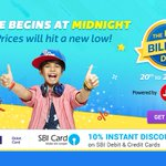 Flipkart's #BigBillionDays sale starts in 45-min from now (12:00am) Check out all the major deals: https://t.co/OQHnjr5DgU