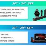 Flipkart's #BigBillionDays Sale Schedule - Mobiles/Laptops/DSLR/Printers will start tomorrow by 12am https://t.co/rAvHhbPlQM