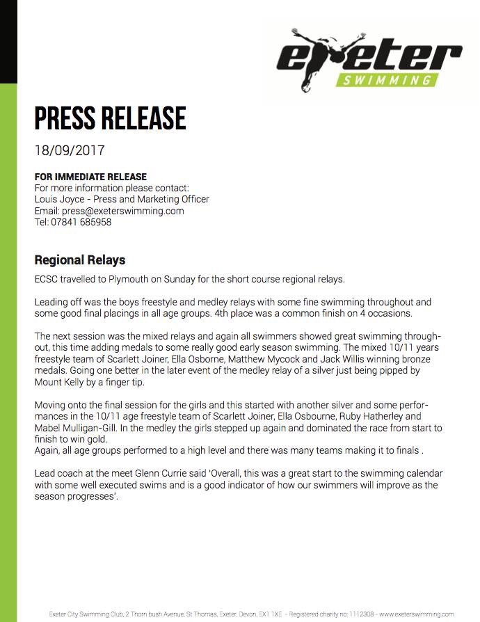 950d7c9b6 Our press release for our Regional Relays report from Sunday   trainmeanswimgreen  exeter  swimming  sportpic.twitter.com YxYL9muZUX
