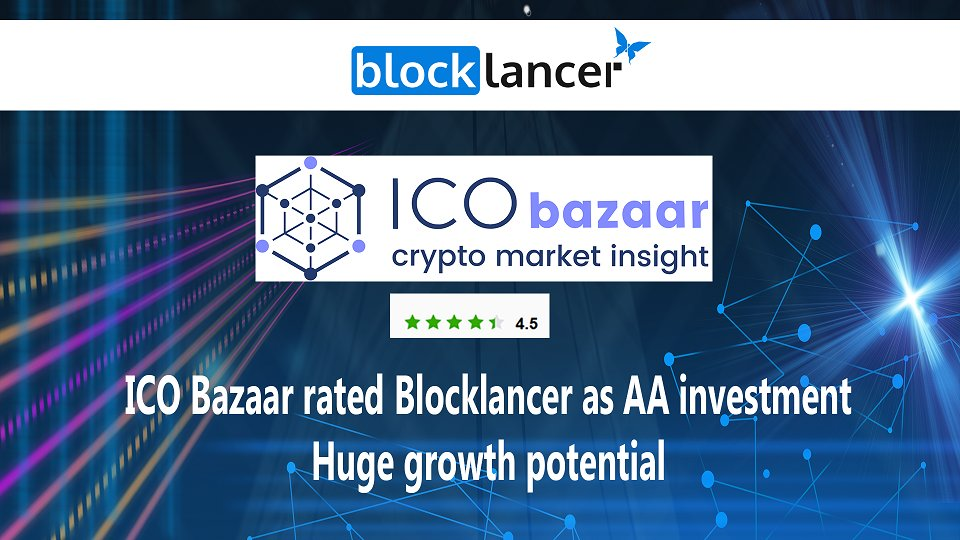 ICO Bazaar rated Blocklancer as AA #investment. Huge #ICO is coming #Freelancer #Crypto<br>http://pic.twitter.com/xv6DxWxzzq