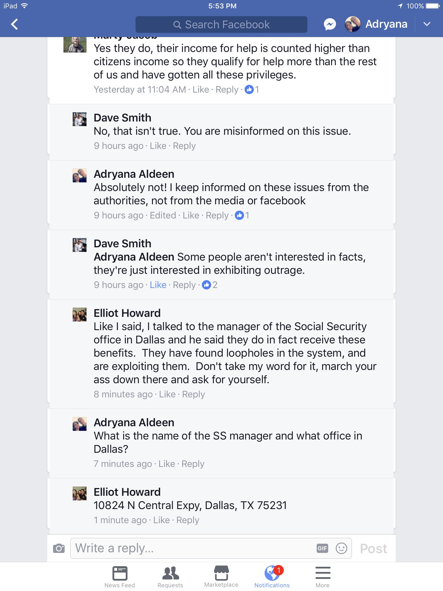 Adryana Aldeen on Twitter ElliotHoward says SocialSecurity
