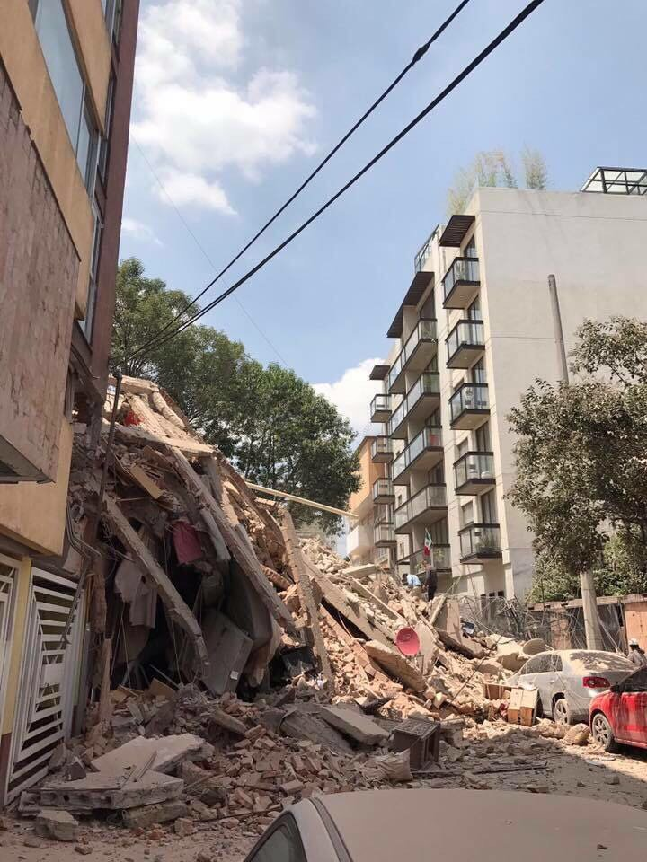 Photos show damage in Mexico City from 7.1 magnitude earthquake. Read more: https://t.co/V4c1XmkryD