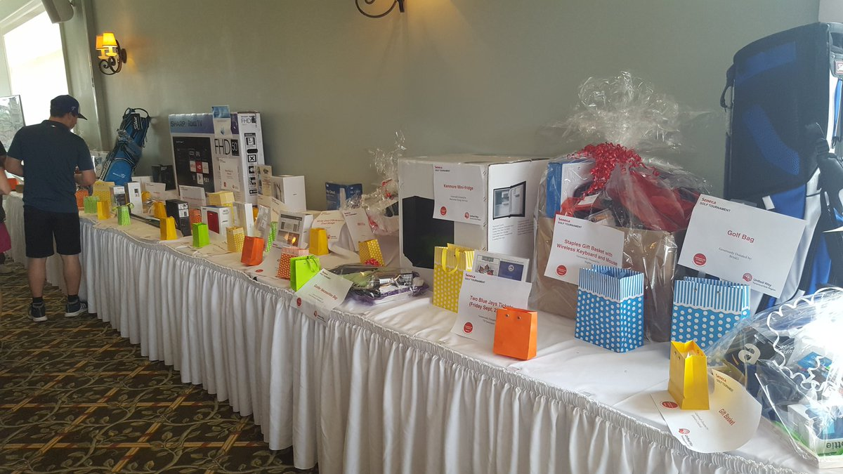 Raffle prizes for golf tournament