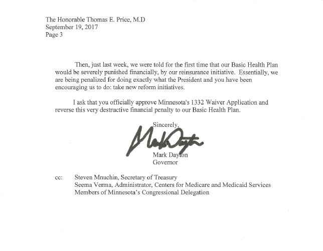 Kyle potter on twitter heres daytons letter to hhs sec price kyle potter on twitter heres daytons letter to hhs sec price calling potential cuts to minnesotacare funding a very destructive penalty mnleg thecheapjerseys Gallery