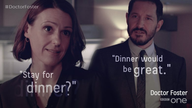 #DoctorFoster is hosting a dinner party. RUN FOR COVER. https://t.co/gU7CPqLDEo