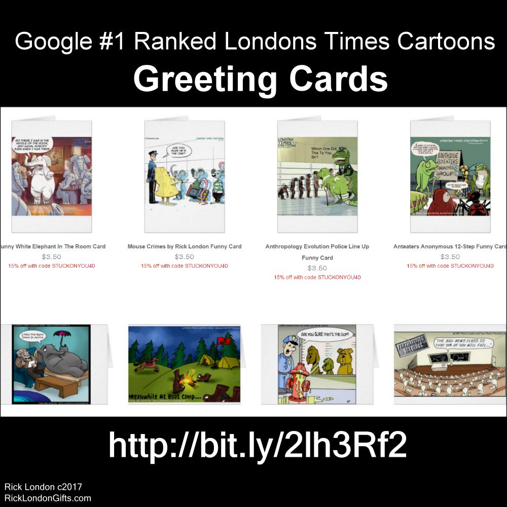 Google Top-Ranked #funny #Greetingcards #Sale 15% offAll @LTCartoons Ends Wed Code ZAZFALLDEALS @c/o @zazzle  #humor  http:// bit.ly/2lh3Rf2  &nbsp;  <br>http://pic.twitter.com/BGqs2irIZY