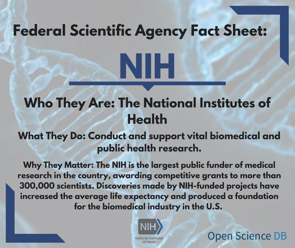 Next up is the @NIH. This agency is the largest public funding source for medical science in the U.S. #FundUSAscience <br>http://pic.twitter.com/8ykJ2ZXFsm