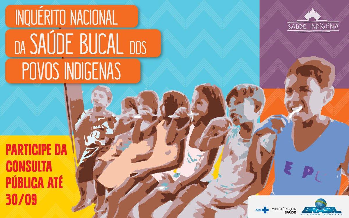 Corre que é até o fim do mês!🏃Participe da consulta pública sobre a Saúde Bucal dos Povos Indígenas. Saiba mais: https://t.co/3GO28uEsde