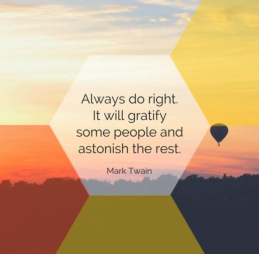 Cpco On Twitter Quote Of The Day Always Do Right It Will