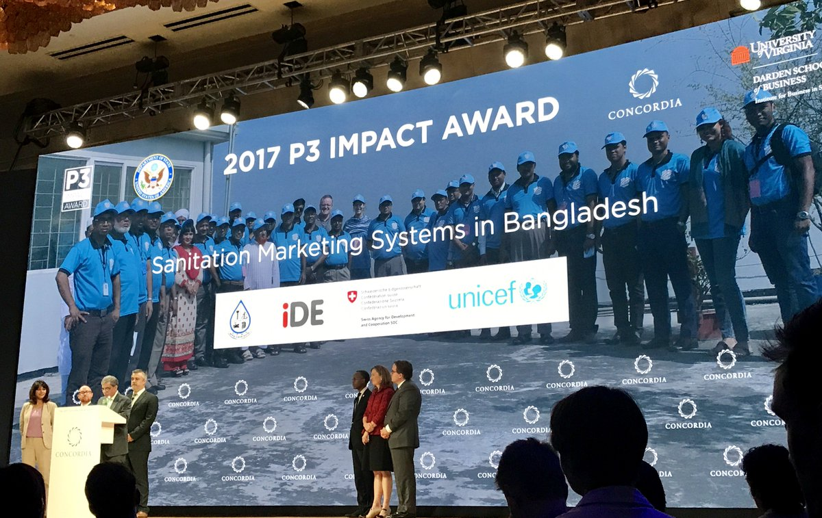 Gp At State On Twitter Congratulations To 2017 S P3impact Award Winner Sanitation Marketing Systems In Desh Ideorg Unicef Pranrflgroup