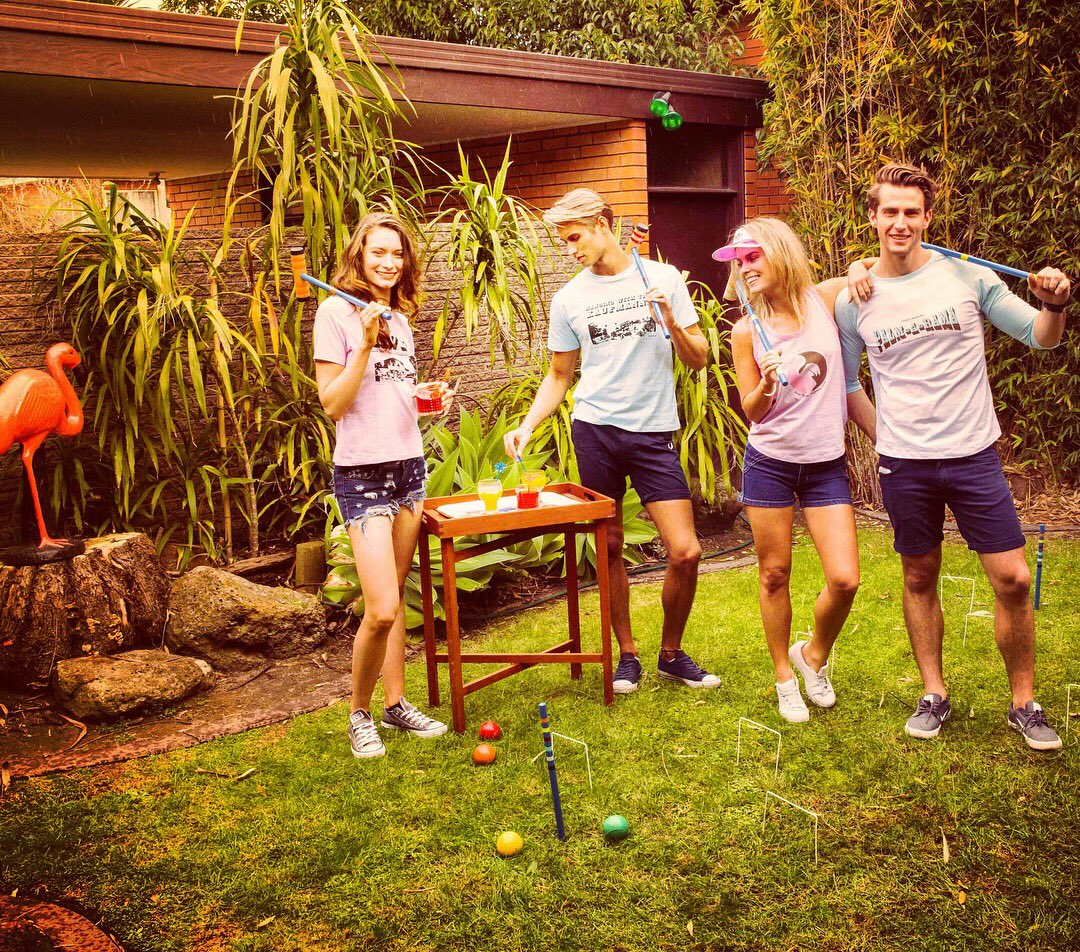 The #TwinPalms crew love a game of #croquet. Who&#39;s in?  #palmsprings #california #socal  #desert #coachellavalley  #coachella #fashion<br>http://pic.twitter.com/LrCmkobEzH