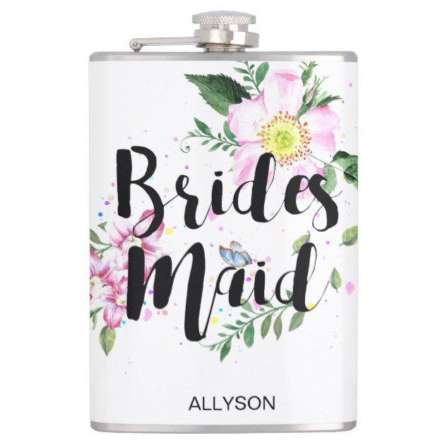 Bridesmaid Floral Watercolor Flask #BridalShower #BridalShowerFlask #BachelorettePartyFlask  http:// bit.ly/2samwgj  &nbsp;  <br>http://pic.twitter.com/l3R87DeMmi