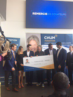 Jonathan Drouin has committed to donating $500,000 to the CHUM Foundat...