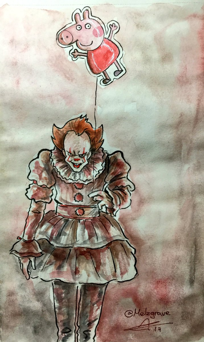 WE ALL FLOAT DOWN HERE! #It #Pennywise #Watercolor <br>http://pic.twitter.com/qZ284jX8P4