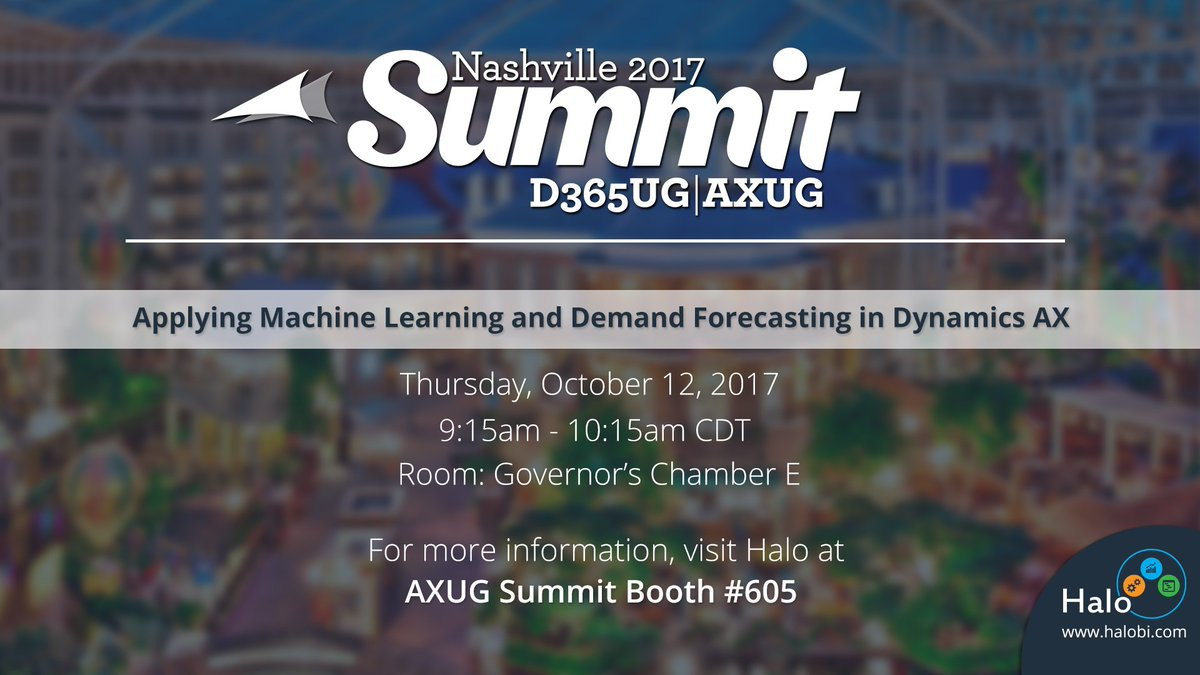 Join our session @axug #AXUGSummit! How to apply #MachineLearning & #DemandForecasting in #MSDyn365AX:  #MSDynAX