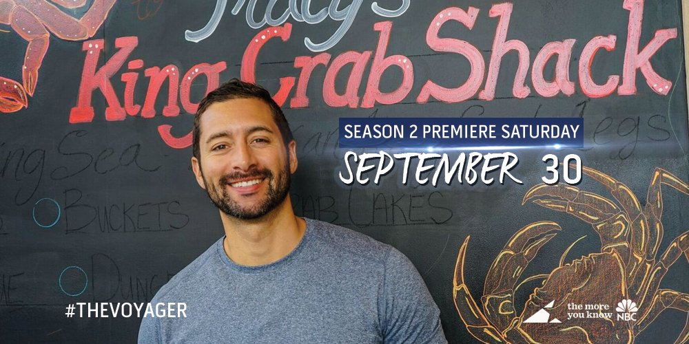 Season 2 of #TheVoyager with @mrjoshuagarcia premieres this Fall on @NBC's #TheMoreYouKnow! @OceanVacations<br>http://pic.twitter.com/ASJZD7zSjb