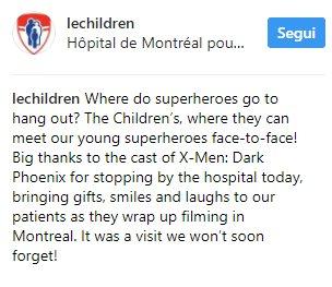 NEW #MichaelFassbender, #JamesMcAvoy, #NicholasHoult &amp; #AlexandraShipp at the #Montreal&#39;s Children Hospital! PART 1 #Xmen #XMenDarkPhoenix<br>http://pic.twitter.com/O0D1c0apJD