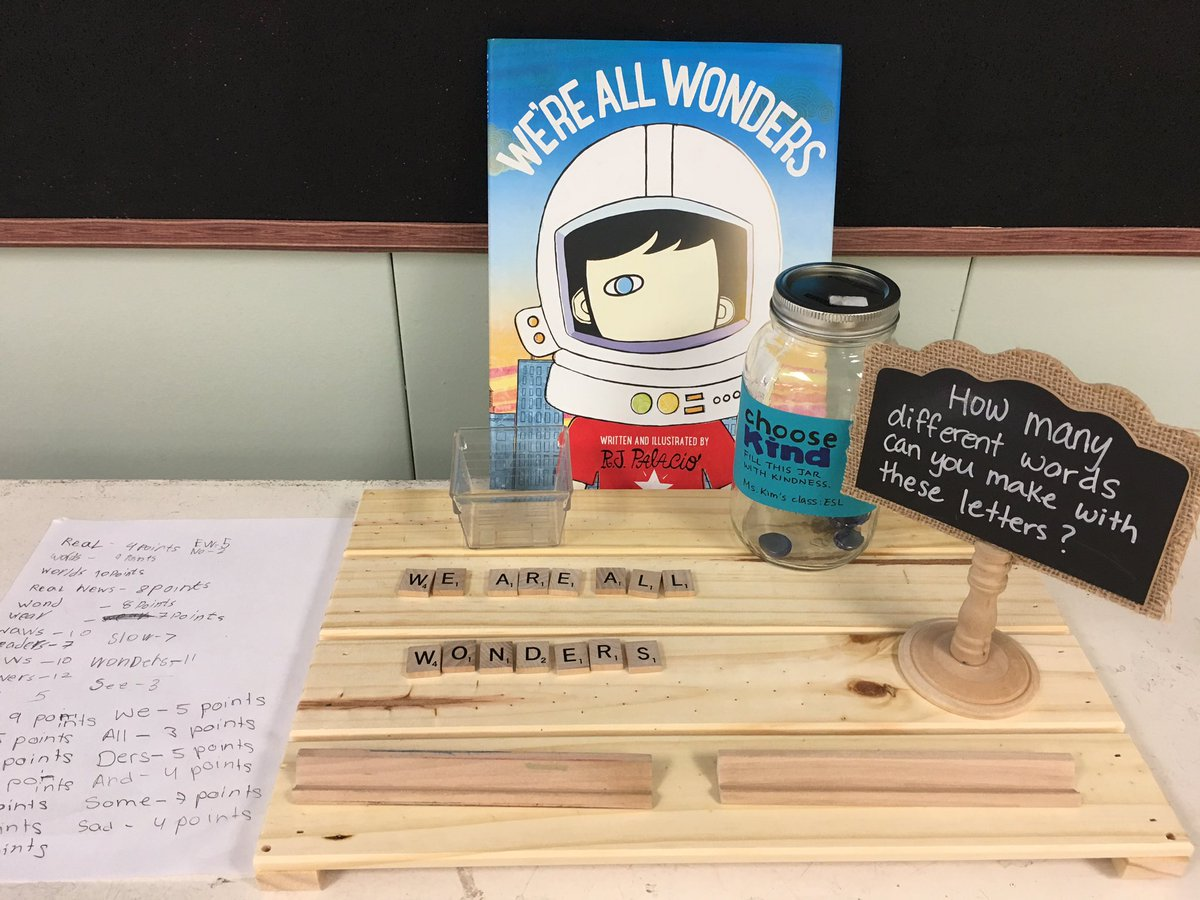 Students are welcomed at any time during their period to add a word or two to the growing list #mskimESL @tdsb @tdsb_SMPS @RJPalacio #wonder <br>http://pic.twitter.com/yGpEAy3eJx