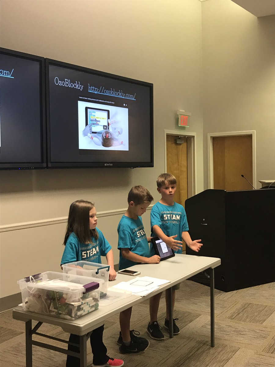 @TCBOE_LES students did an excellent job presenting @OZOBOT to the @TCBOE School Board Members! #LeadingTheWay <br>http://pic.twitter.com/TxIUDvAi0W