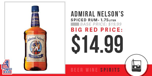 Big Red Liquors On Twitter Admiral Nelson Spiced Rum Is The