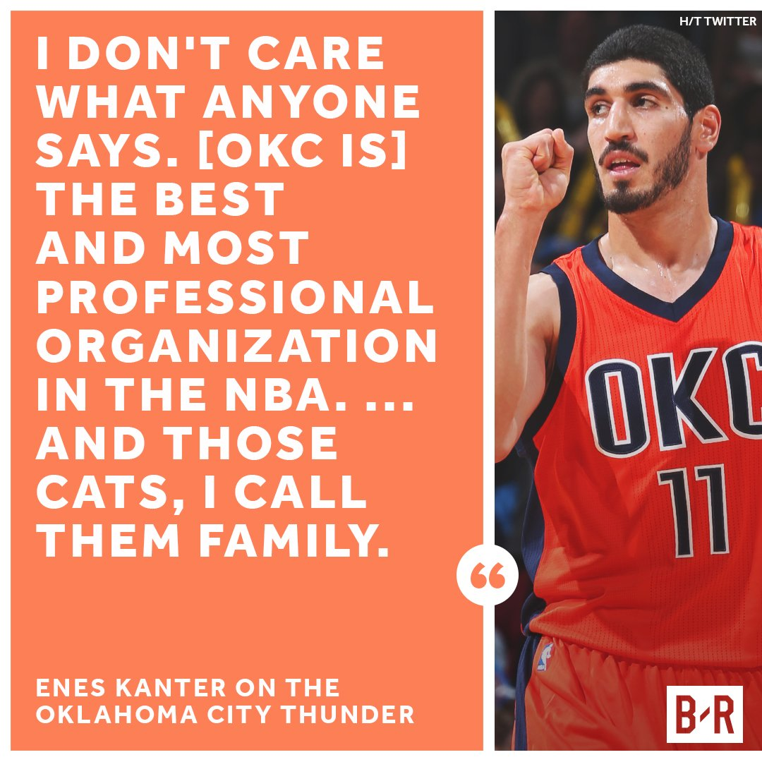 Enes stands up for OKC.
