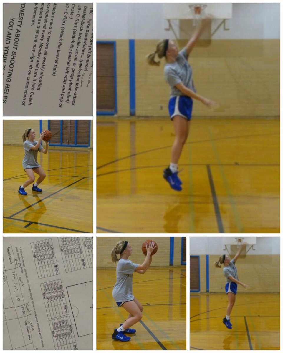 Lady Knight Hooper, Gabby working on her weekly shots... not basing her game on hope, but on hard work. #endure #freezingthrees<br>http://pic.twitter.com/EowmObABsg