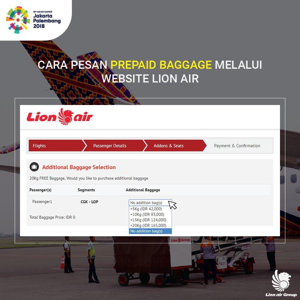 Lion Air Group On Twitter Pesan Prepaid Baggage Untuk
