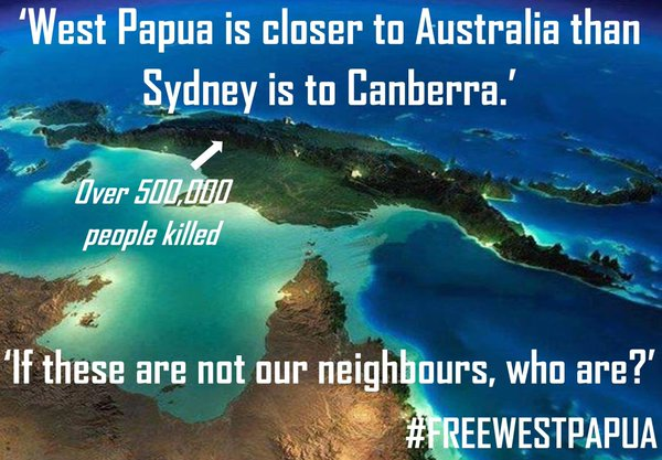 #WestPapua is closer to #Australia than Sydney is to Canberra. &quot;There is a #genocide happening on our doorstep&quot; <br>http://pic.twitter.com/1S6zLUd9R5