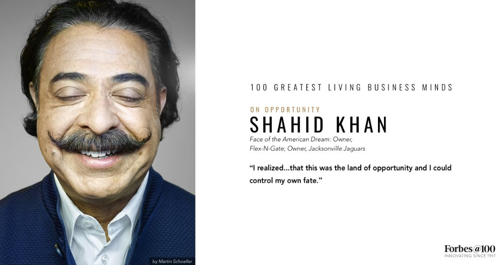 Shahid Khan arrived in America as a 16 year old with $500 in his pockets. He's now a billionaire https://t.co/0oddwGrvD8 #Forbes100