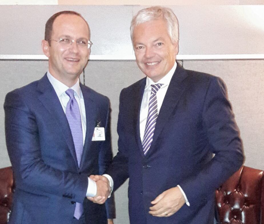 I had a bilateral meeting with the Foreign Minister of Albania @ditmirbushati #UNGA72 #UE #WesternBalkans #reforms <br>http://pic.twitter.com/zt6MsaMnwo