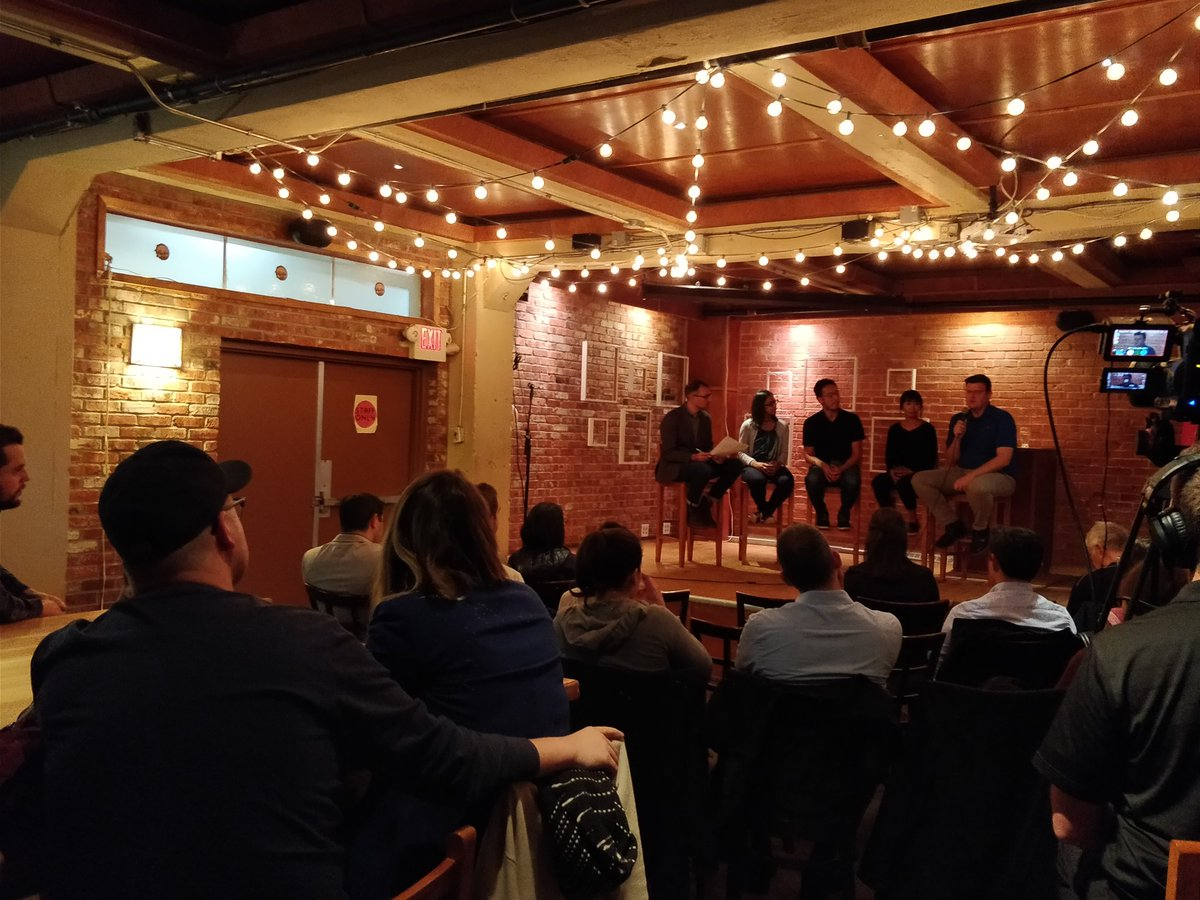 Packed house tonight taking about #yeg #socinn great ppl and initiatives #vcss #vcss2017 @spirit_of_urban @roundhousechng<br>http://pic.twitter.com/xPfUEz4GcQ &ndash; at Yellowhead Brewing Co.