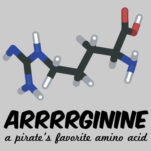 It&#39;s a Pirate&#39;s life! #TalkLikeAPirateDay #Pirate #Arginine #AminoAcid #Science #STEM #SciComm<br>http://pic.twitter.com/PMhsTM3SYR