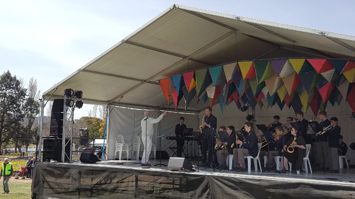 Our Armstrong Jazz Band are now on stage at @floriadeaust - and it's a great day for it.