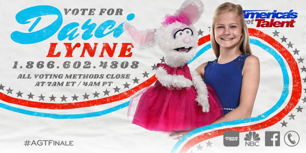 If you want @itsDarciLynne to win #AGT tomorrow, RETWEET and vote for...