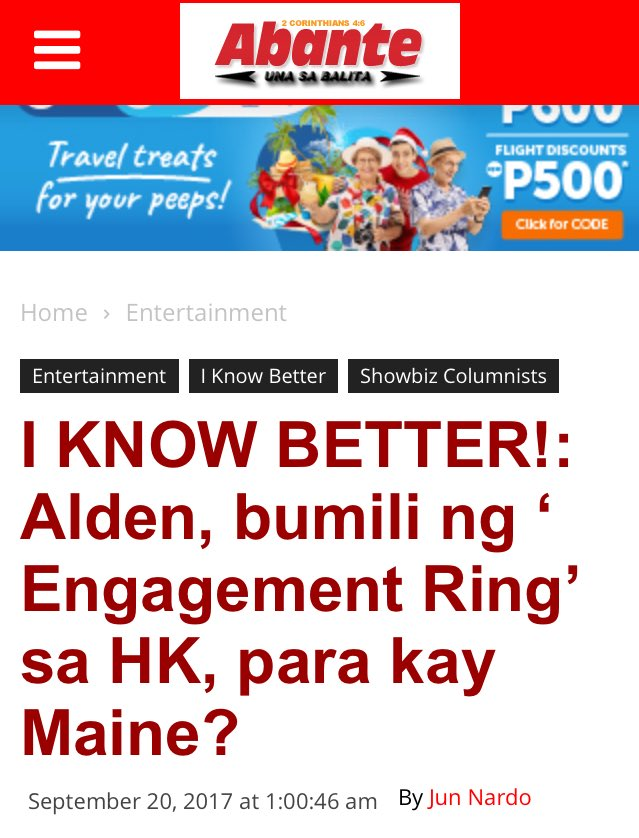 I KNOW BETTER! Alden Bumili ng Engagement Ring sa HK, para kay Maine?  Article by: Jun Nardo  #ALDUBBetAngYakap https://t.co/tq6oXiSHlp