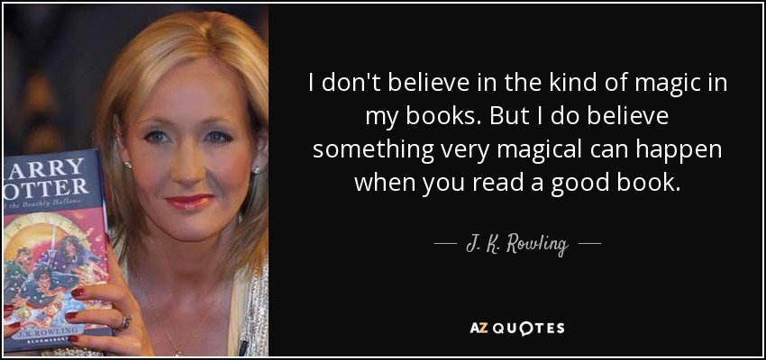 Read a book and make the magic happen. #quote #Novel #author #writer #books #Literature #read #story #library #journal #imagine #JKRowling<br>http://pic.twitter.com/bnIGlogZcI