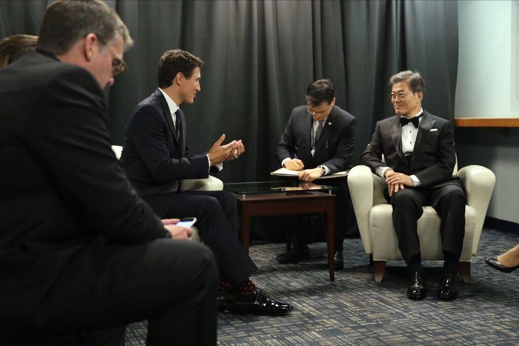 Rencontre avec le président Moon Jae-In à NY ce soir sur le commerce Canada-Corée et la nécessité de réagir à l'agressivité nord-coréenne.