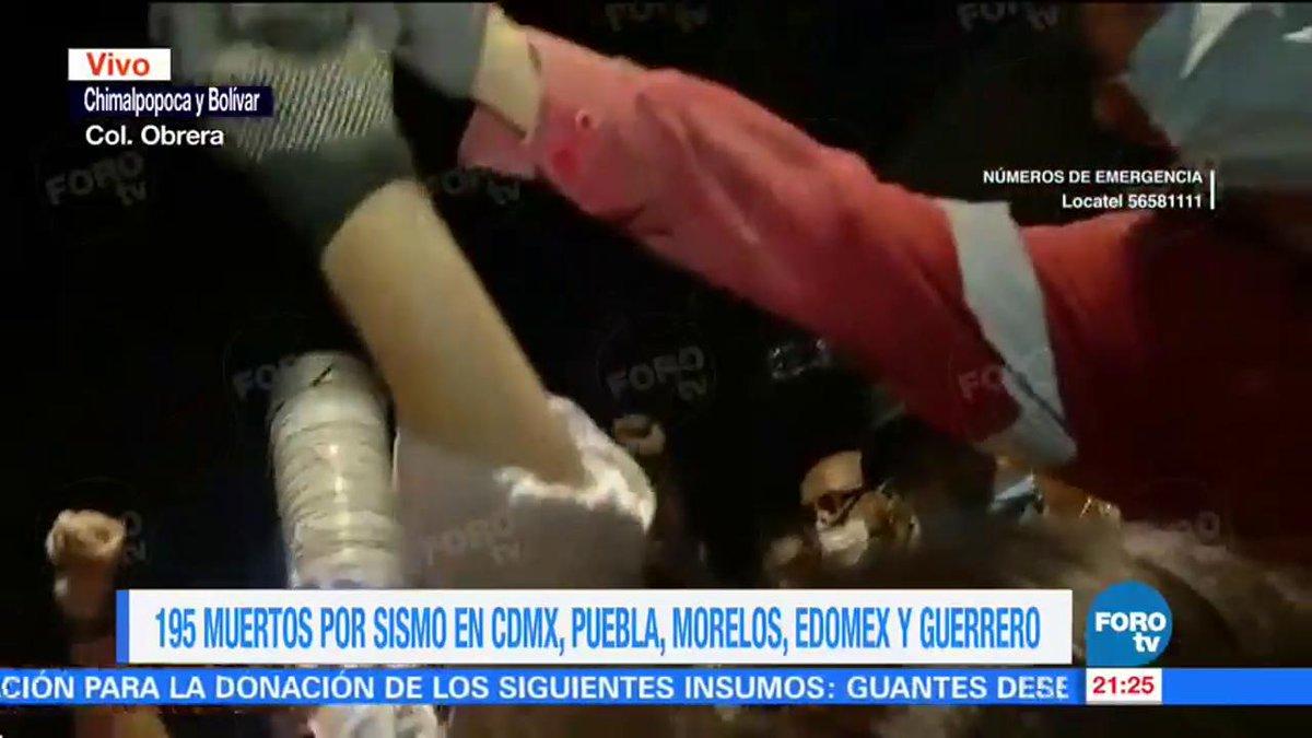 Rescatan a dos niños con vida entre los escombros de colegio Enrique Rébsamen  #FuerzaMéxico