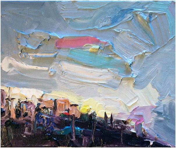 Drove through #Provence at dusk and there it was... another #hilltop town! #modernart #artcollector #artistlife<br>http://pic.twitter.com/0vCXzTMsjx