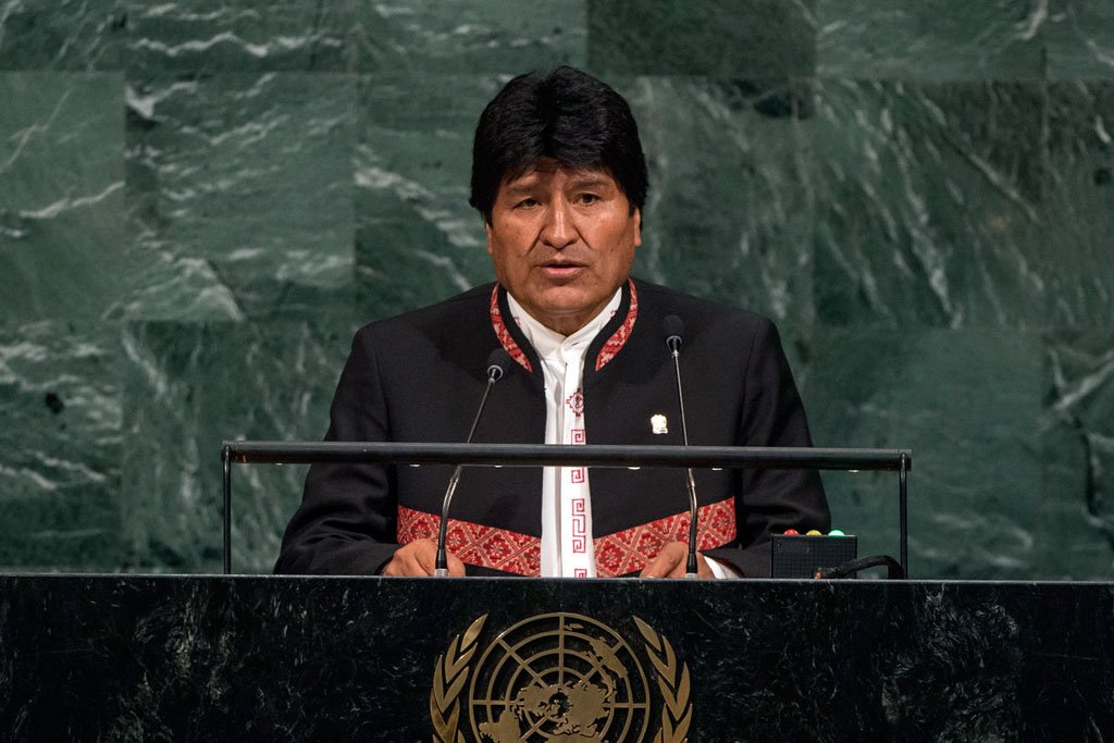 #Bolivia's #Morales, at #UN, says natural resources, basic necessities must be viewed as human rights | #UNGA   http://www. un.org/apps/news/stor y.asp?NewsID=57583 &nbsp; … <br>http://pic.twitter.com/pbalhletef