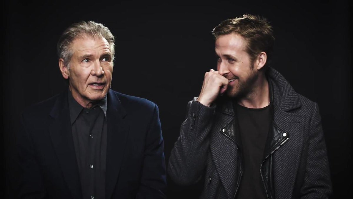 Harrison Ford and @RyanGosling talk Blade Running, how little they hang out, and their pecs: https://t.co/okQpak4PjG